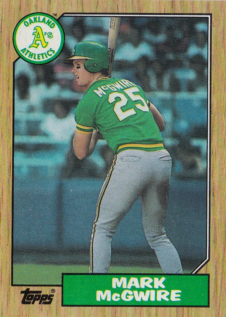 Mark Mcgwire 1987 Amercian League Rookie Of The Year Big