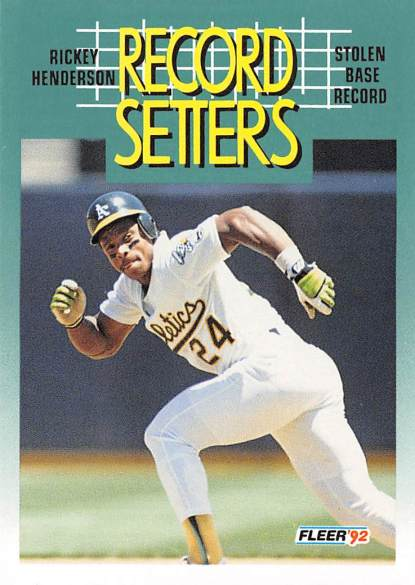 Rickey Henderson Sets Career SB Mark