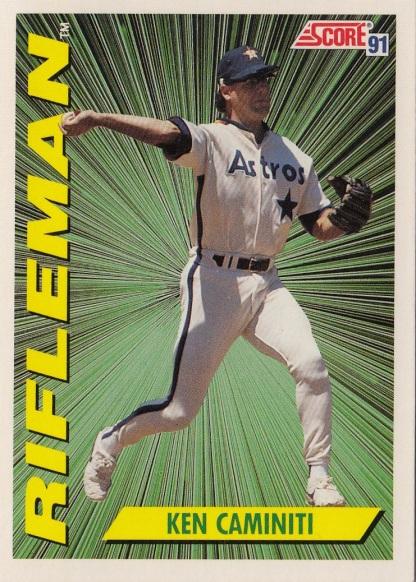 Astros 1991 Score Ken Caminiti RIFLEMAN F