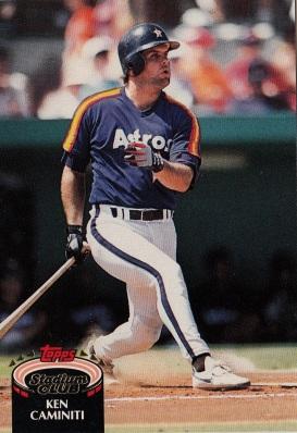 Astros 1992 Stadium Club Ken Caminiti F