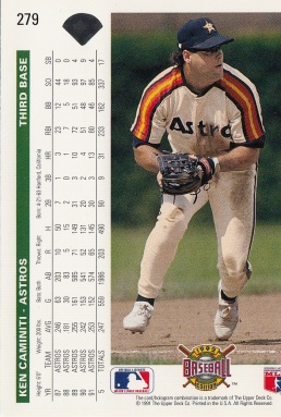 Astros 1992 Upper Deck Ken Caminiti B