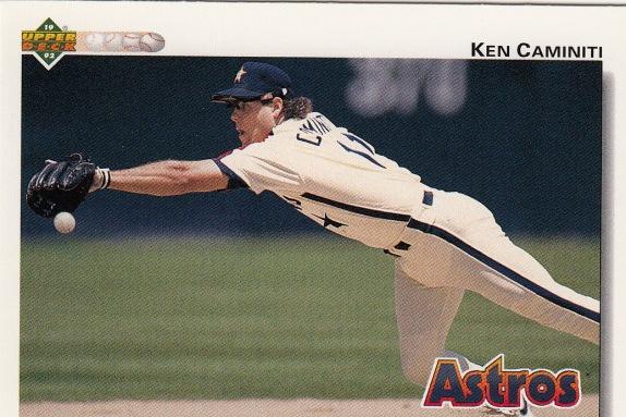 Astros 1992 Upper Deck Ken Caminiti F