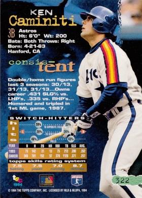 Astros 1994 Stadium Club Ken Caminiti B