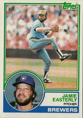 Brewers 1983 Topps Jamie Easterly F