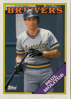 Brewers 1989 Topps Paul Molitor F
