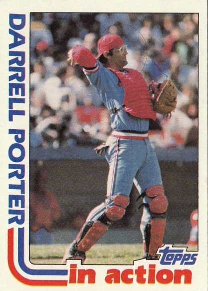 Cards 1982 Topps Darrell Porter In Action F