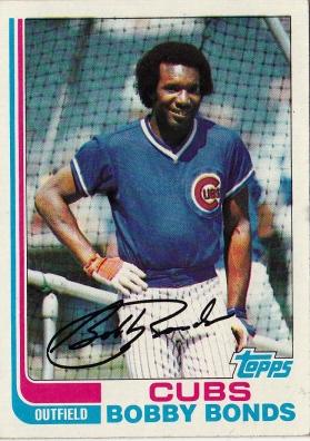 Cubs 1982 Topps Bobby Bonds F