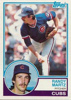 Cubs 1983 Topps Randy Martz F