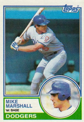 Dodgers 1983 Topps Mike Marshall F