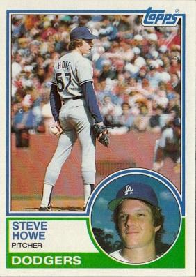 Dodgers 1983 Topps Steve Howe F