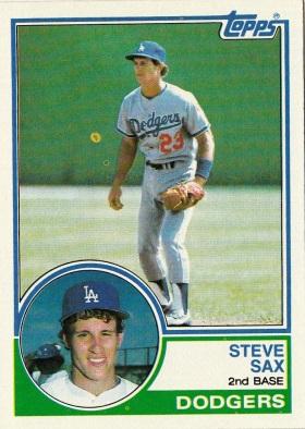 Dodgers 1983 Topps Steve Sax F