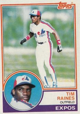 Expos 1983 Topps Tim Raines F