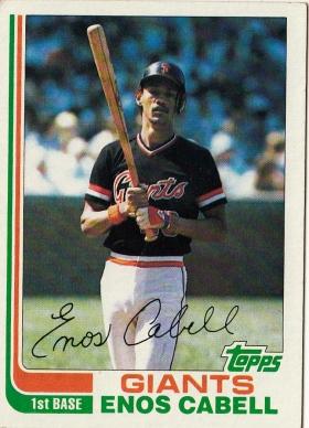 Giants 1982 Topps Enos Cabell F