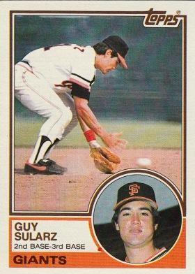 Giants 1983 Topps Guy Sularz F