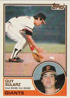 Giants 1983 Topps Guy Sularz F