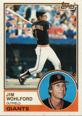 Giants 1983 Topps Jim Wohlford F