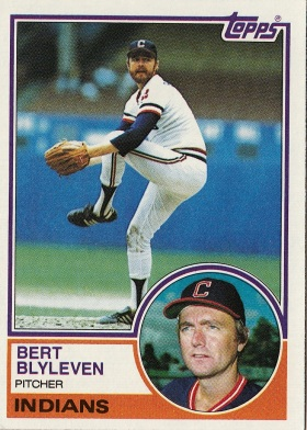 Bert Blyleven, Indians, Baseball Card