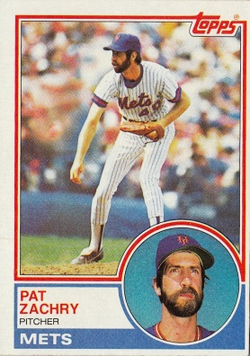 Mets 1983 Topps Pat Zachry F