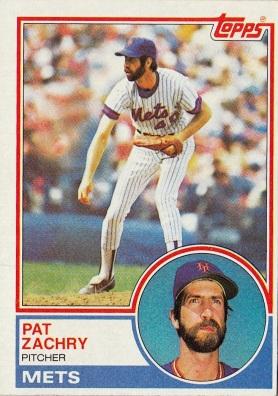Mets 1983 Topps Pat Zachry F