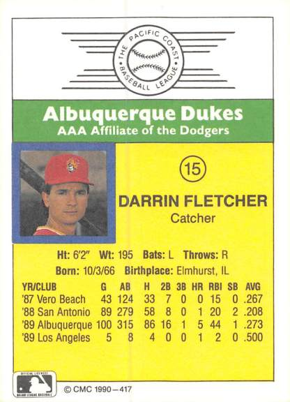 Darrin Fletcher Minor League Card