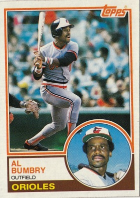Orioles 1983 Topps Al Bumbry F