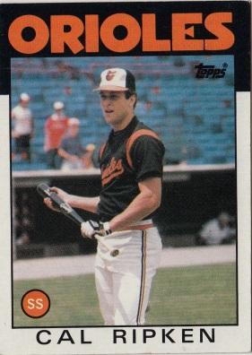 Orioles 1986 Topps Cal Ripken F