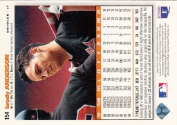 Orioles 1995 Upper Deck CC Brady Anderson B