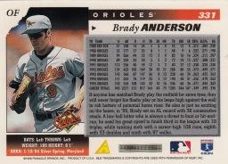 Orioles 1996 Score Brady Anderson B
