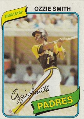 Padres 1980 Topps Ozzie Smith F