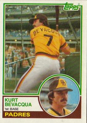 Padres 1983 Topps Kurt Bevacqua F