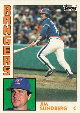Rangers 1984 Topps Jim Sundberg F