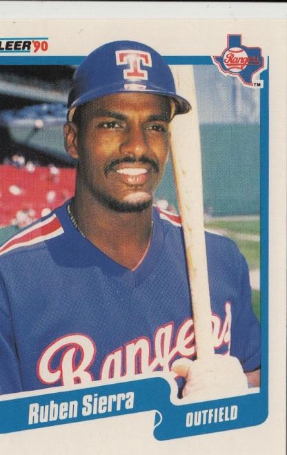 Rangers 1990 Fleer Ruben Sierra F