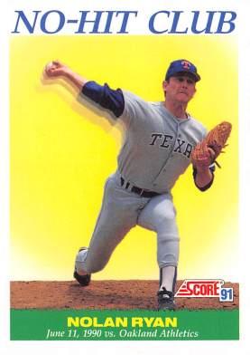 Nolan Ryan 1991 Score No Hitter #6