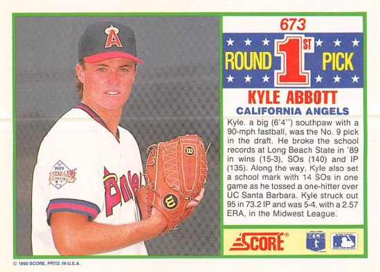 Kyle Abbott Rookie Card