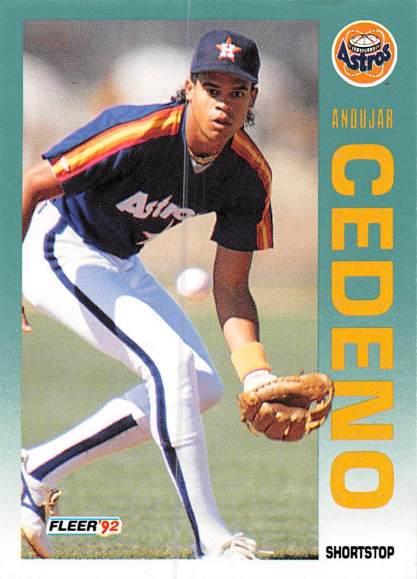 Andujar Cedeno Rookie Card