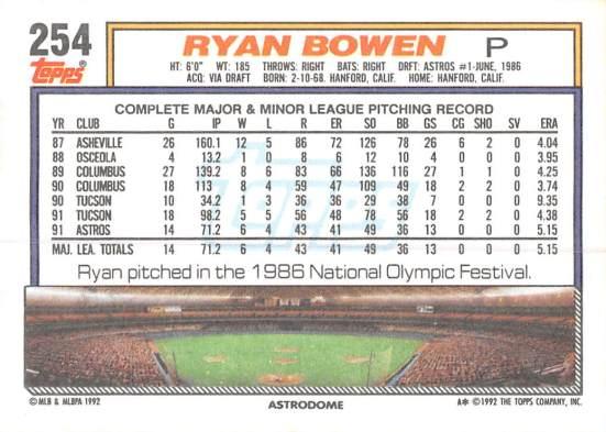 Ryan Bowen Rookie Card