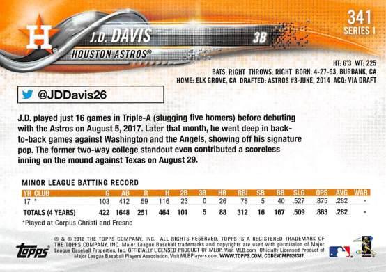 J.R. Davis Rookie Card