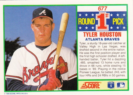 RC Braves 1990 Score Tyler Houston B