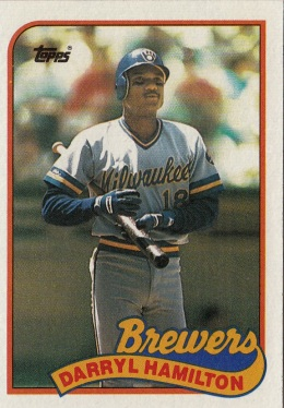 RC Brewers 1989 Topps Darryl Hamilton F