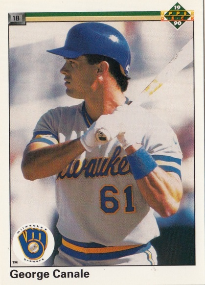 RC Brewers 1990 Upper Deck George Canale F