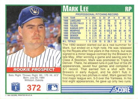 Mark Lee Rookie Card