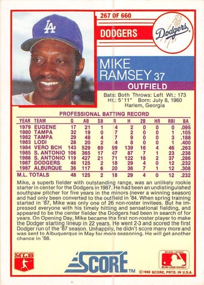 Mike Ramsey Rookie Card