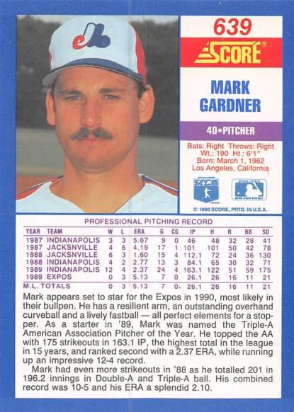 Mark Gardner Rookie Card