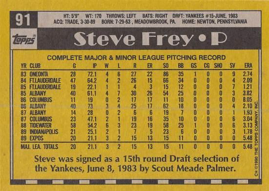 Steve Frey Rookie Card
