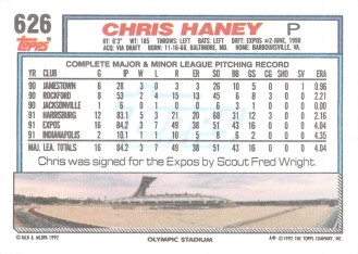 Chris Haney Rookie CardChris Haney