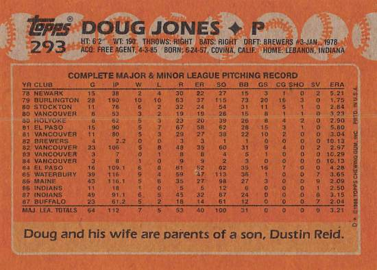 Doug Jones Rookie Card