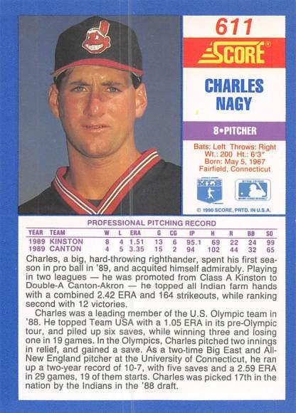 Charles Nagy Rookie Card