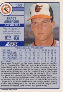 Brady Anderson Rookie Card