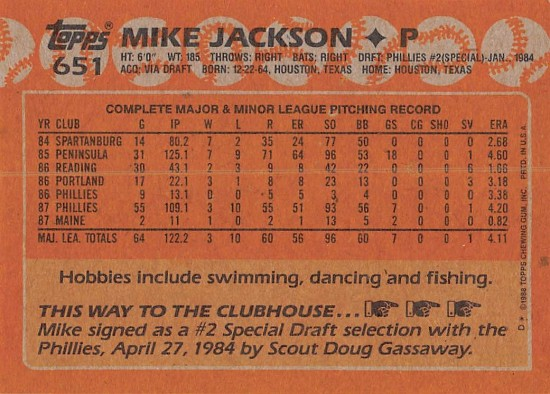 Mike Jackson Rookie Card