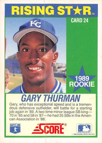 Gary Thurman Rookie Card